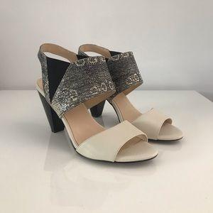 Karl Lagerfeld Floquet Leather Sandals Sz 6